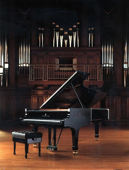 steinwaytoronto:  The Steinway grand piano, a gift from the family of William J. Hannan, sits at the Oberlin College, Conservatory of Music, All-Steinway School.