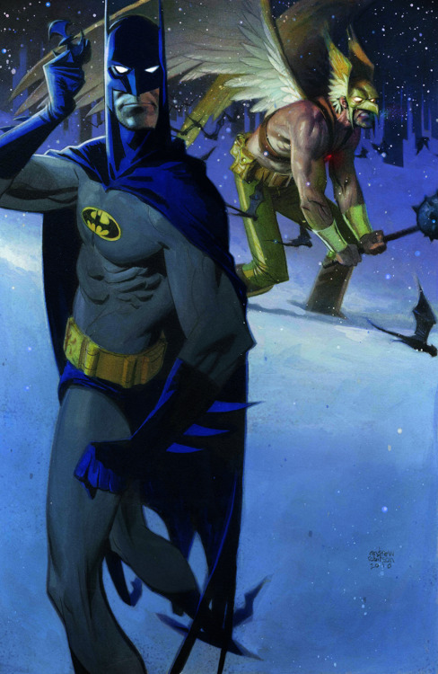 thehappysorceress:  Batman and Hawkman by Andrew Robinson