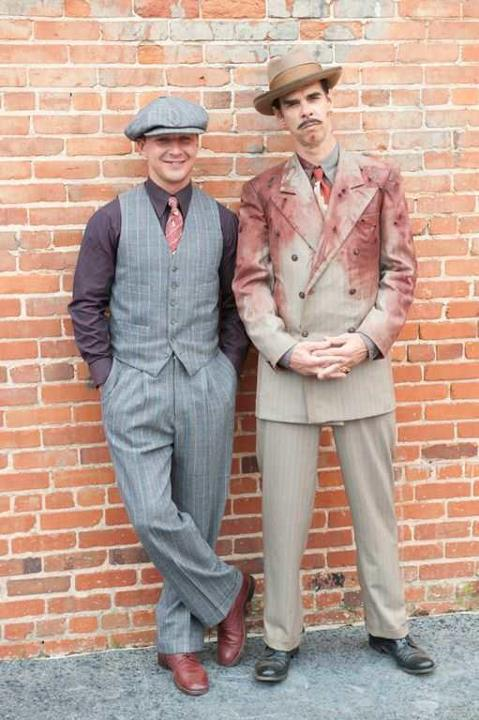 """Nick Cave & Shia LaBeouf on the set of Lawless.  Not only did Nick write the screenplay and create the score with Warren Ellis, he features in the film too!"""