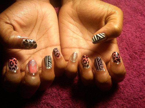 Mixed nails last night @ TTK, Catch Bar.