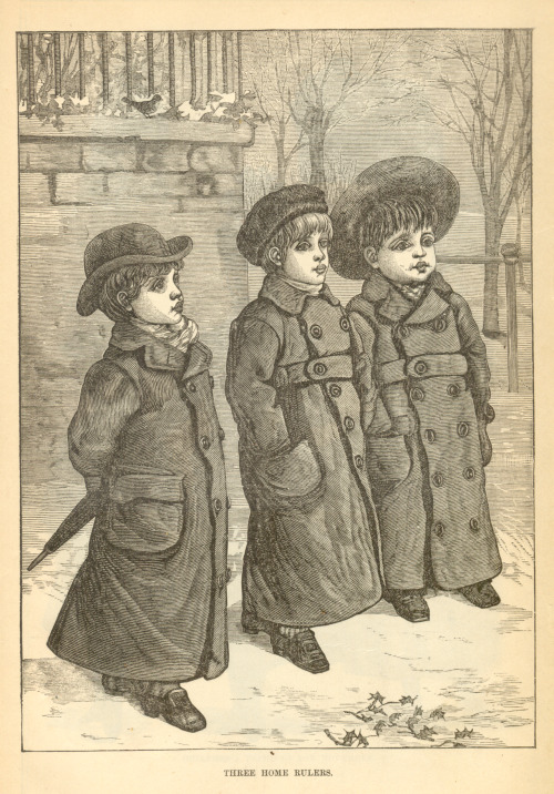 """Three Home Rulers,"" illustration from Peterson's Magazine, November 1887"