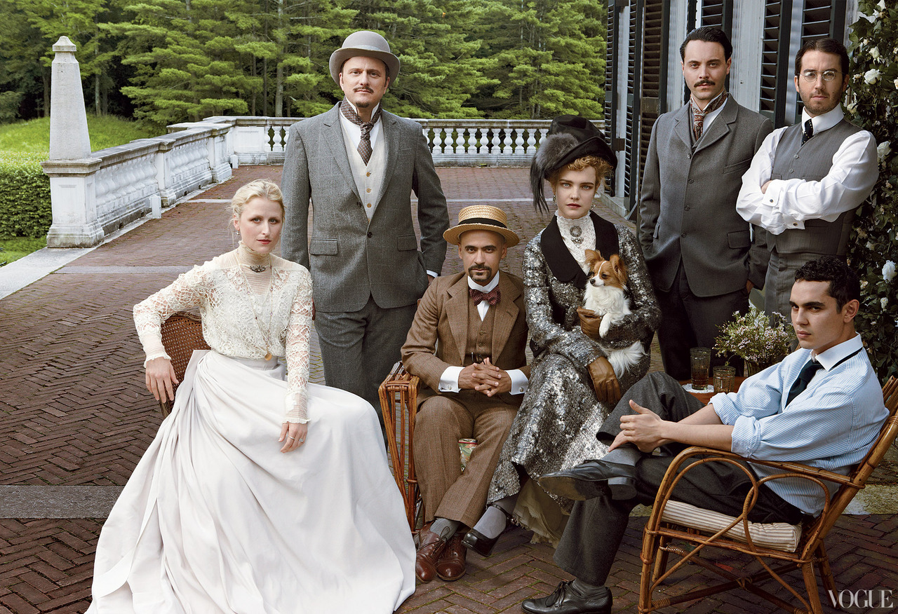 bohemea:  The Custom of the Country - Vogue by Annie Leibovitz, September 2012 Mamie Gummer as Beatrix Farrand, Jeffrey Eugenides as Henry James, Junot Díaz as Walter Berry, Natalia Vodianova as Edith Wharton, Jack Huston as Morton Fullerton, Jonathan Safran Foer as Ogden Codman Jr & Max Minghella as Maxfield Parrish.