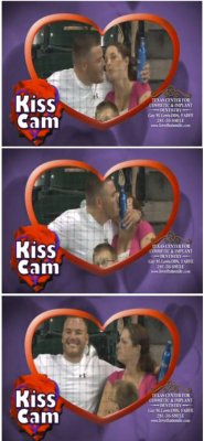 "collegehumor:  Guy on Kiss Cam Kisses Beer ""Bart, a woman is like beer. They look good, they smell good, and you'd step over your own mother just to get one!"" – Homer Simpson"