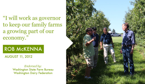 Rob is committed to the economic success of the Washington farm community. That's why organizations like the Washington State Farm Bureau and the Washington Dairy Federation have endorsed him. Share this if you stand with Washington's farmers and ranchers: http://rob.lc/ag