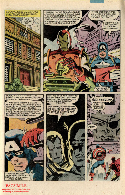 Captain America, Series 1. Volume 279. Why is Iron Man doing science in his iron suit?