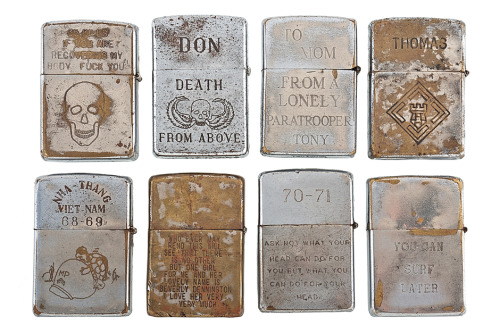 anchordivision:  RETROSPECT: Vintage Vietnam War Zippo Lighters - HB
