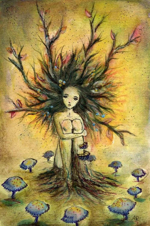 littleglassunicorn:  Little Dryad by The-autumnwind