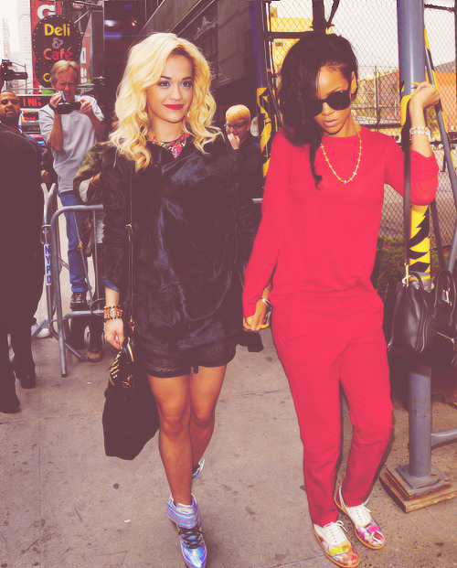 malikbear:  Crack Ship: Rita Ora and Rihanna.