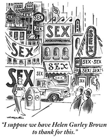 Bob Mankoff on Helen Gurley Brown, Sex, and Cartoons: http://nyr.kr/PpRgfO