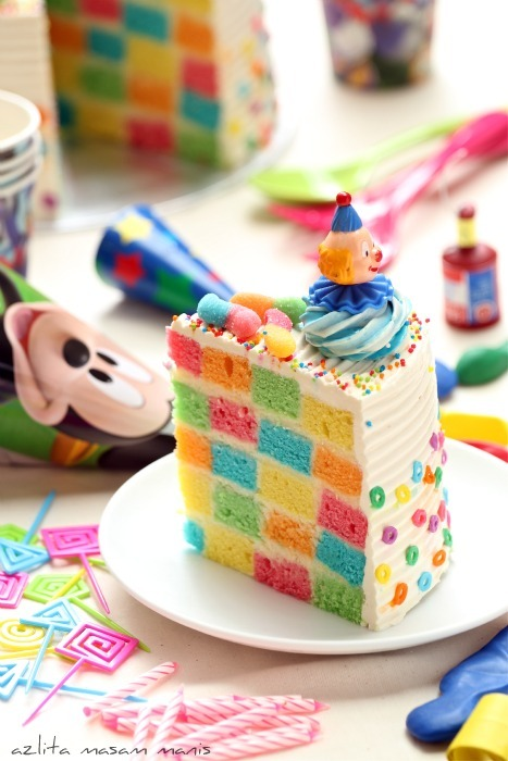 CHECKERED RAINBOW CAKE