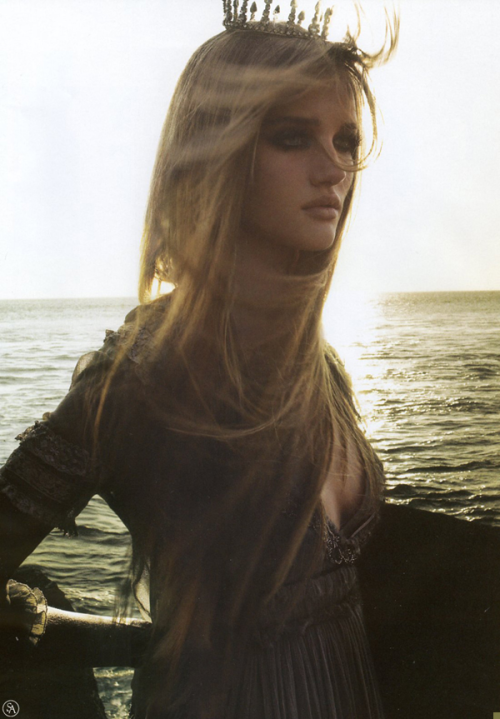 "csebastian:  ""Storm Bringer"" (+) Harpers and Queen, September 2005 photographer: Michelangelo di Battista Rosie Huntington-Whiteley"