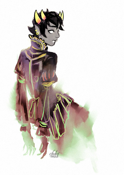 Like Feferi, Sollux is also a ghost. That doesn't stop him from being Aradia's moirail.