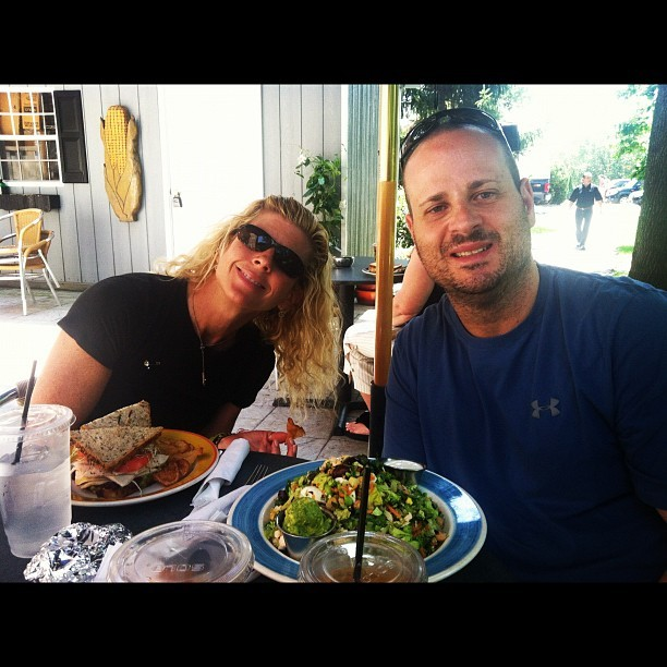 Lunch with Jan and Harry!  (Taken with Instagram at Stone Mill Bakery)