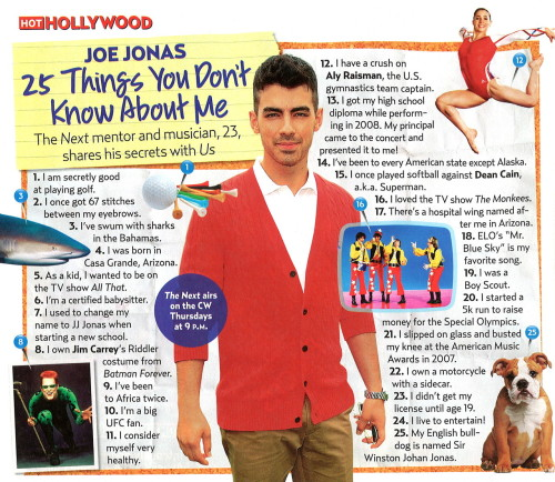 Joe Jonas tells you 25 Things You Didn't Know About Him and wants YOU to tune in to the series premiere of #TheNext tonight at 9PM ET/PT on The CW!