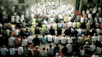 Sunrise service in an Istanbul mosque on 9/11/11