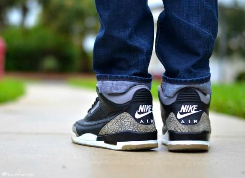 rockyourkicks:  1994 Black Cement 3s, Photo Credit: Sam Hampshire