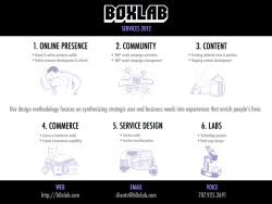 The BOXlab 2012 service-set 1 pager… Illustrations by Jenny Kruch!