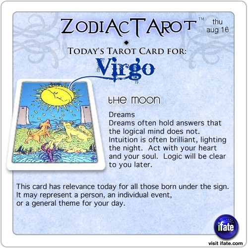Click on ZodiacTarot! for all of today's zodiac tarot cards...and click here for the web's best horoscopes!