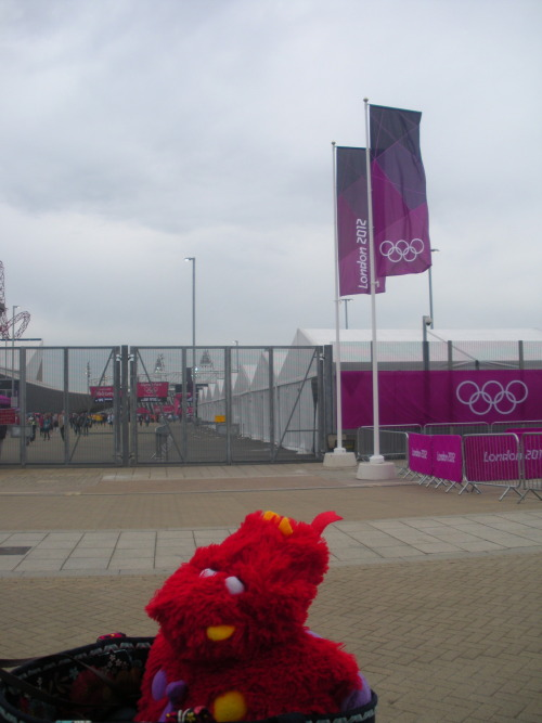 I'M OUTSIDE THE OLYMPIC PARK
