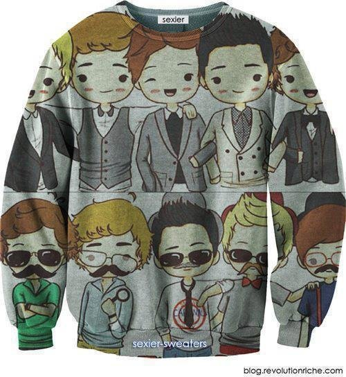 This is a One Direction Sweater. I. WANT. THIS.