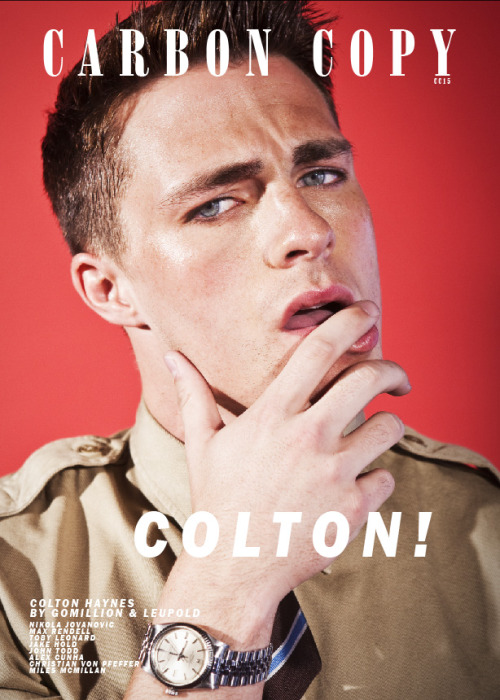Colton Haynes for Carbon Copy Magazine