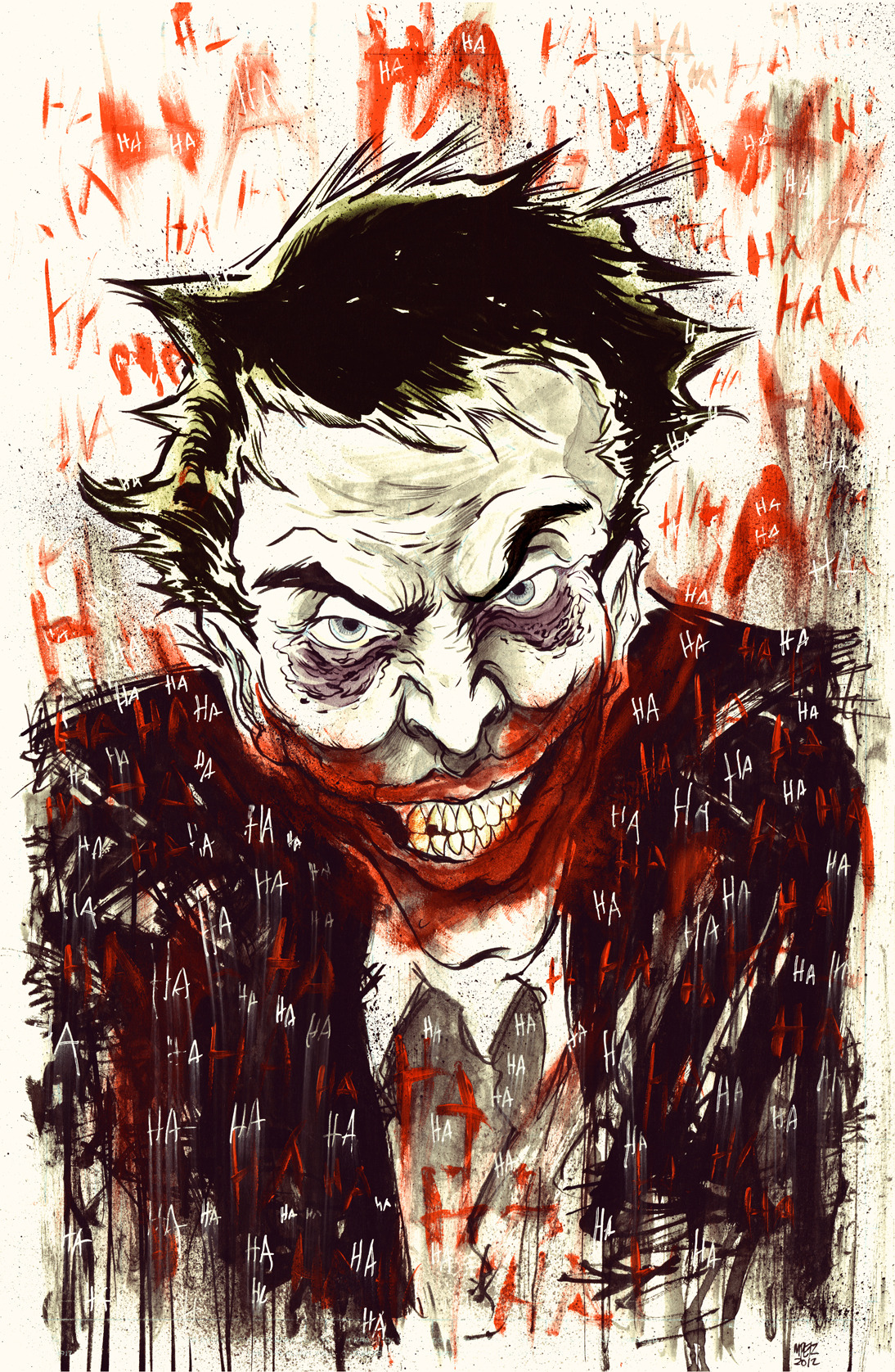 Finished Joker illustration.  -M