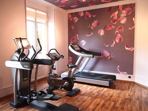 thehealthyhouse:  I want a beautiful fitness room like this!