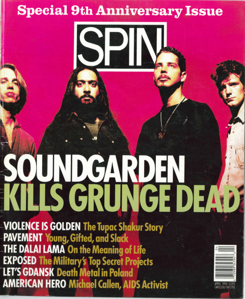 "Billy Corgan's recent charge that Soundgarden are ""back only to make money"" reminded me of the classic argument between Corgan and Kim Thayil (""You hurt me deeply in my heart"") documented in Spin's April 1994 cover story on Soundgraden."