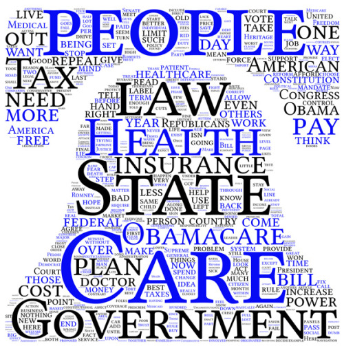 What words our readers used most when responding to posts about #Obamacare, the Supreme Court, etc.