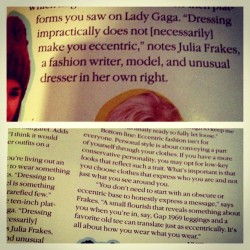 Teen Vogue September 2012: Fashion Eccentrics interview quotes