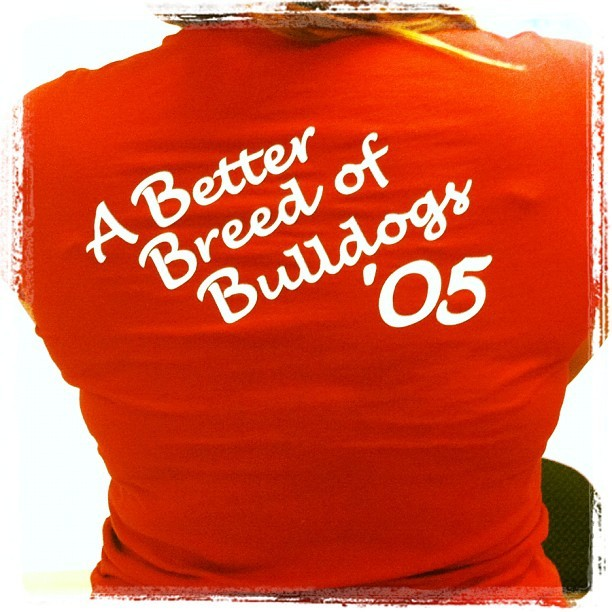Wearing the old Senior Girls shirt from high school today #tbt #dawgpride (Taken with Instagram at Osher Marin JCC)
