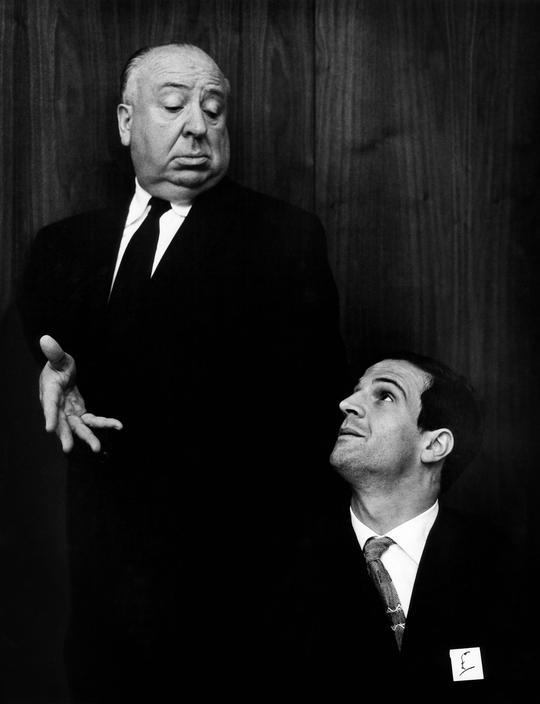 elisebrown:  François Truffaut and Alfred Hitchcock California, 1962. © Philippe Halsman/Magnum Photos