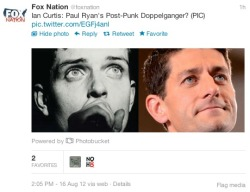 cheatsheet:  vicemag:  Positing that the @FoxNation twitter account is an inside job  Love Medicare will tear us apart, again.   What? What is this? What is happening?