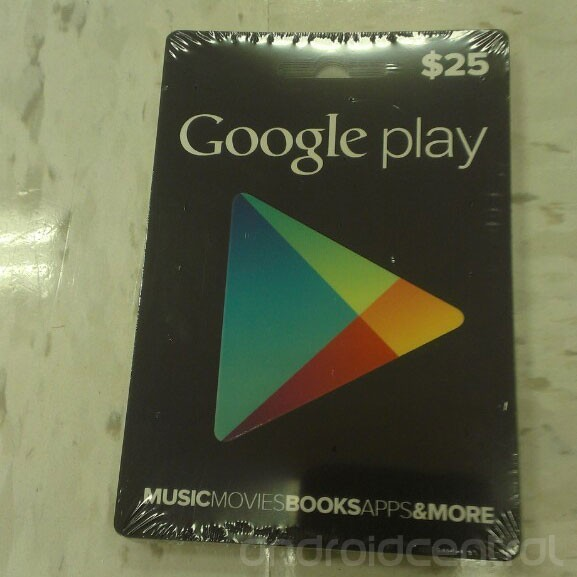 Google Play gift cards coming to a retailer near you