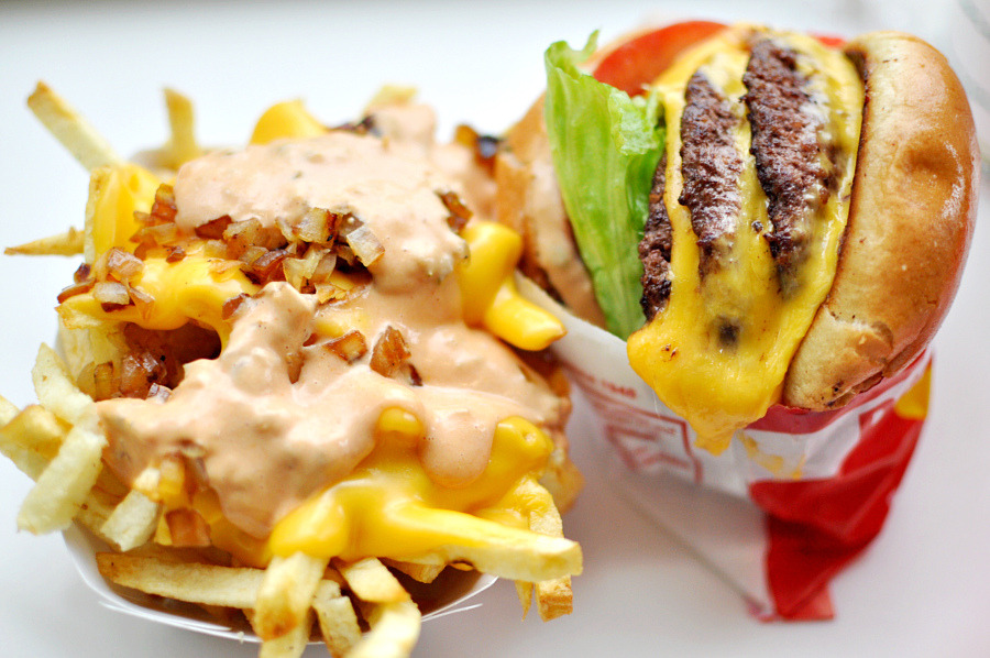 f-word:  in-n-out 3x3 with animal style fries photo by punctuated