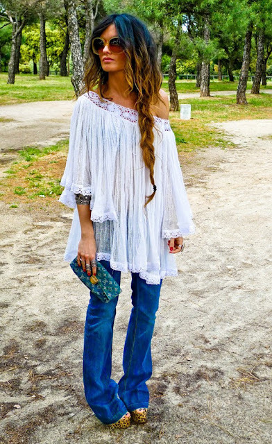 I am in the midst of an ongoing love affair with 70's chic… LONG hemlines & hair!  More Ombre!!