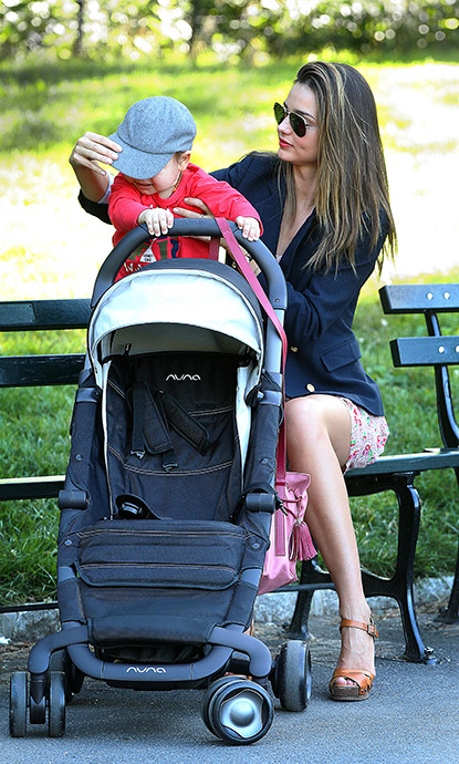 Miranda Kerr spends some quality time with her son, Flynn in the park on August 16th, 2012.