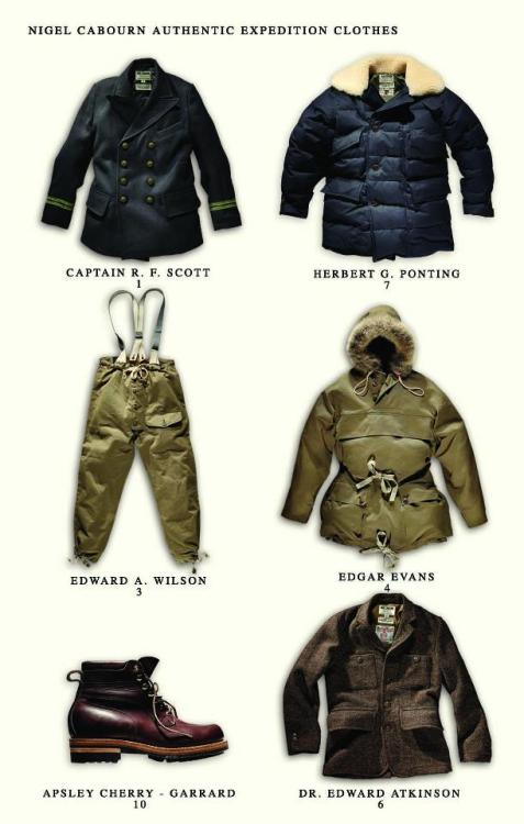 Nigel Cabourn Expedition Clothes Fall 2012 via http://www.mensfile.com/