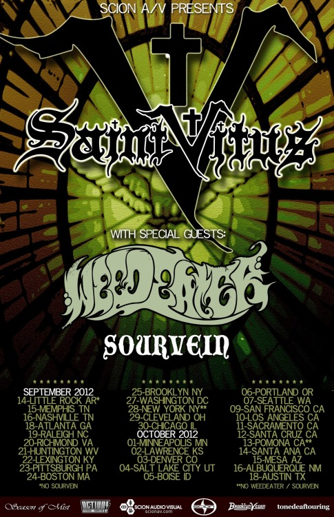 Tickets On Sale Now for SAINT VITUS' U.S. Headlining Tour Doom Metal Godfathers' First Stateside Headlining Trek in Nearly Twenty Years Presented by ScionAV