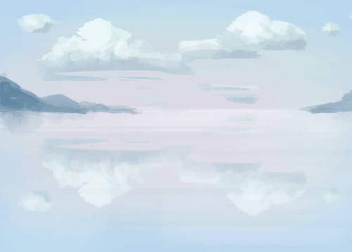 Fun warm up painting based on the world's largest natural mirror in Bolivia. Really cool!