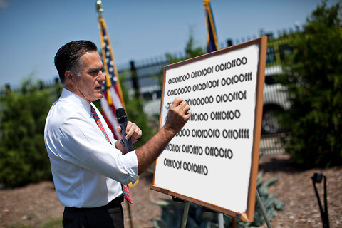 think-progress:  romneyswhiteboard:  Mitt Romney has become self-aware.  We shared this fun new tumblr yesterday. But we can't. resist. the robot. Romney.