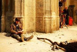 earn31:  Harry Potter reading Harry Potter on the set of Harry Potter during shooting of Harry Potter.