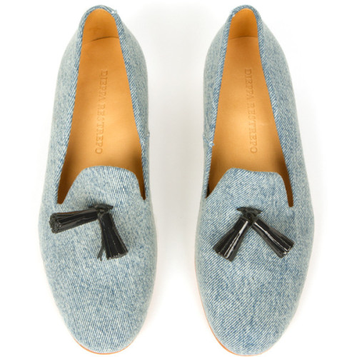 Dieppa Restrepo loafer   ❤ liked on Polyvore (see more kitten heel shoes)