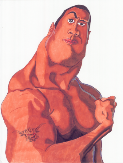 The Rock by ~TheRealIkeman A caricature of the Rock