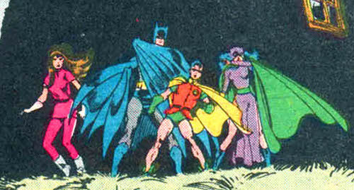discowing:  How awesome is this team up? Talia, Bruce, Jason and Selina. [Batman #400]