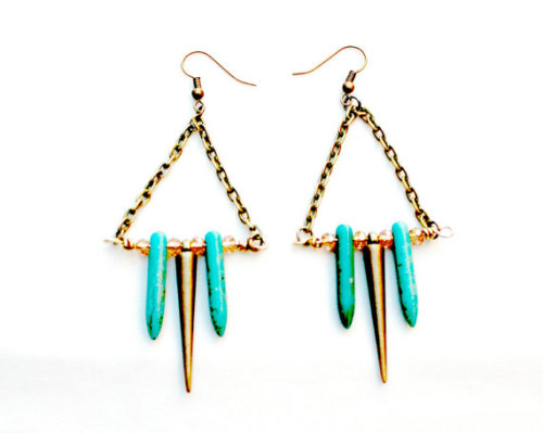 iseskjewelry:  Tri-Spike Earrings by Ises K. Jewelry