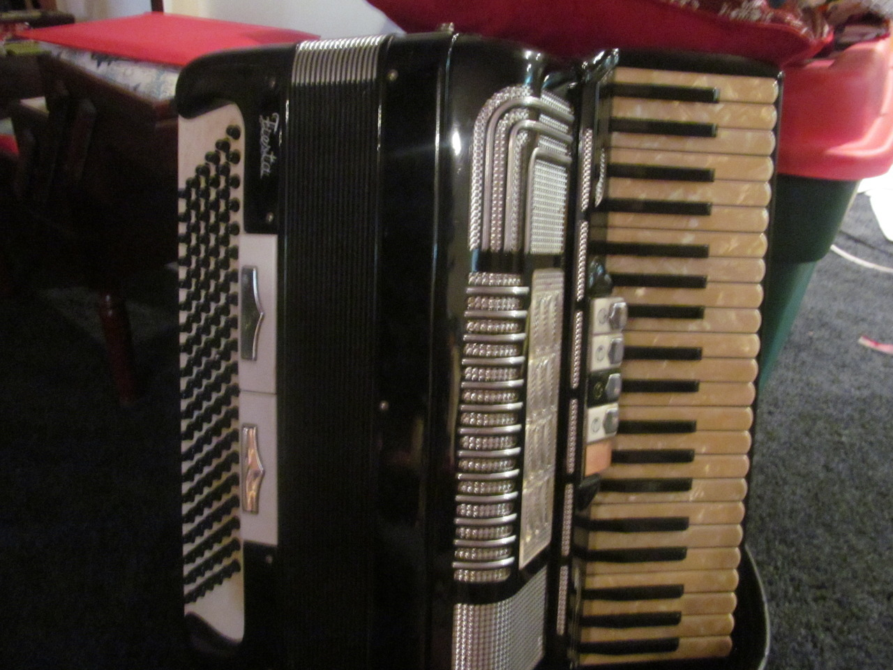 Just some random photos of my instruments. I didn't bother taking any pictures of my keyboard because it's not much to look at, haha.
