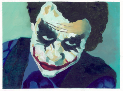 The Joker by ~TheRealIkeman A painting of Heath ledger Joker.