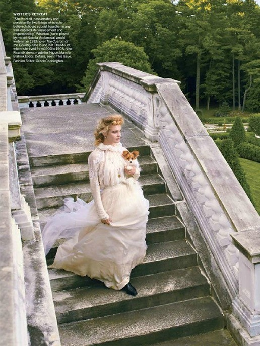 english-rose:  Natalia Vodianova 'The Custom of the Country ' US Vogue September 2012 by Annie Leibovitz