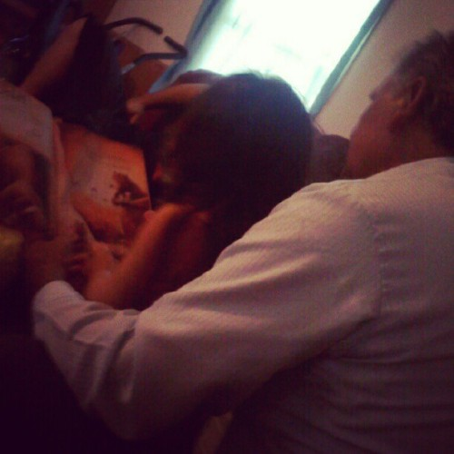 He lives for moments like this <3 #grandpasgirl #readingabook #family (Taken with Instagram)